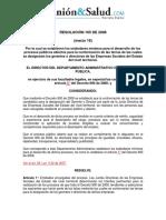 Resolucion 165 de 2008
