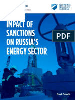 Impact of Sanctions on Russia's Energy Sector
