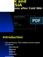 IRAN and RUSSIA Relations After Cold War