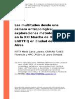 RITTA Maria Carla Loreley, CARARO FUN (..) (2013). Las Multitudes Desde Una Camara Antropologica Exploraciones Metodologicas en La XXI Ma (..)
