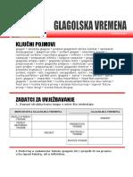 GLAGOLSKA VREMENA - Kljucni Pojmovi i Uvjezbavanje