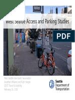 SDOT presentation on West Seattle Junction parking study