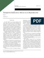 Disruptores Endocrinos. Efectos Reproduccion