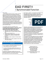 182892-1 - Conveyor Synchronized Function – READ FIRST