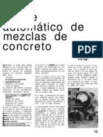 Ajuste Automatico de Mezclas de Concreto