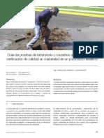 Guía de pruebas de laboratorio y muestreo en campo para la verificación de calidad en materiales de un pavimento asfáltico.pdf