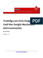 Truthdig.com Chris Hedges and Cold War Dwight MacDonald