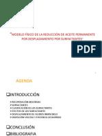 """""""MODELO FÍSICO DE LA REDUCCIÓN DE ACEITE PERMANENTE POR DESPLAZAMIENTO POR SURFACTANTES"""""""