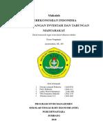 Cover Kelompok 10 Perekonomian Indonesia