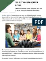 10 Dinámicas de Valores para Niños y Adultos - Lifeder