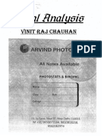 Real Analysis Vinit Raj Chauhan