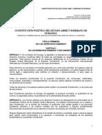 Constitucion Politica Del Estado de Durango