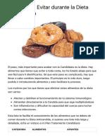 Alimentos a Evitar durante la Dieta Anticandida | Tratamiento Candidiasis