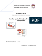 Hematopoyesis y generalidades