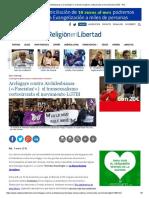 Archigays Contra Archilesbianas («¡Fascistas!»)_ El Transexualismo Cortocircuita El Movimiento LGTBI - ReL