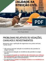 AULA 03 - Patologias na construção civil