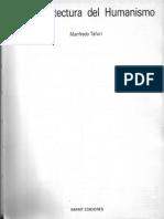la arquitectura del humanismo - Tafuri.pdf