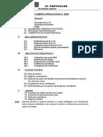 Estructura Carpeta Pedagógica_mpc 2018