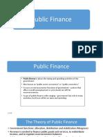 Lect 11 Public Finance