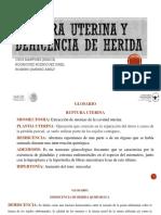 Ruptura Uterina y Dehicencia de Herida