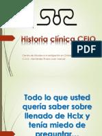 Historia Clínica CEIO 2015