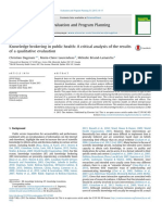 Knowledge Brokering in Public Health a Critical Analy 2015 Evaluation and P