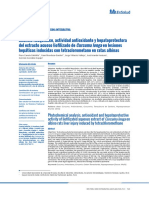 Análisis Fitoquímico, Actividad Antioxidante y Hepatoprotectora Del Extracto Acuoso Liofilizado de Curcuma Longa en Lesiones Hepáticas Inducidas Con Tetraclorometano en Ratas Albinas