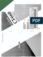Casio CT-660 Manual