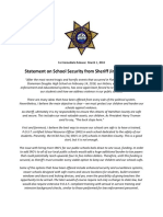 Sheriff Jim Hammond Statement on School Security