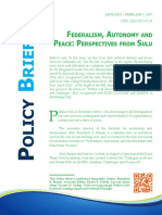 Federalism, Autonomy and Peace