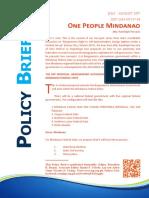 One People Mindanao