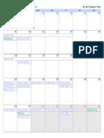 Charlotte's Web Calendar - Updated 10.4.17