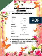 Biodiversidad Del Ecuador y Clasificacion de Los Ecosistemas