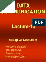 data communication - cs601 power point slides lecture 10