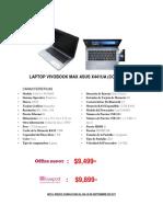 Laptop Vivobook Max Asus x441ua