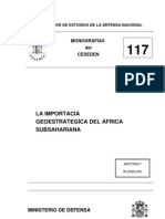 La Importancia estratégica del Africa subsahariana Monografia 117