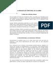 La Organización Territorial en Colombia