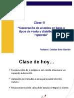 Clase 11 - Generación de Clientes en Base a Tipos de Venta y Distribución Del Repuesto