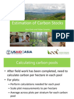 4 LEAF Estimation of Carbon Stocks Post Field