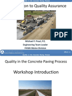 Introduction to Quality Assurance Praul FHWA CPU 2