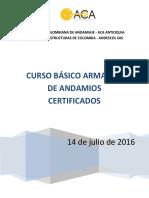 Curso Basico Armador de Anamios Certificados