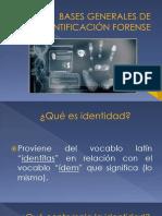 Bases Generales de Identificación Forense