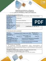 Guía de Actividades y Rúbrica de Evaluación – Actividad 2 - Desarrollo Paso 2, 3 y 4 de ABP