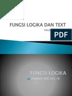 Fungsi Logika Dan Text