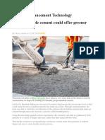Cement Advancement