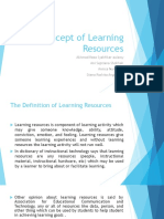 Concept of Learning Resources