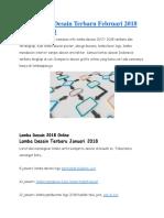 Info Lomba Desain Terbaru Februari 2018 Online Maret