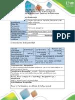 Guía de Actividades Fase 2 - Primer Avance Proyecto ABP Impleme