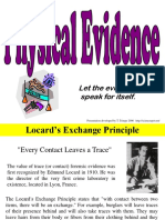 Physical Evidence Notes