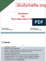 Ece Perovskite Solar Cells Ppt